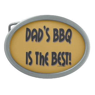 パパのBBQはベストです! ベルトの留め金 卵形バックル