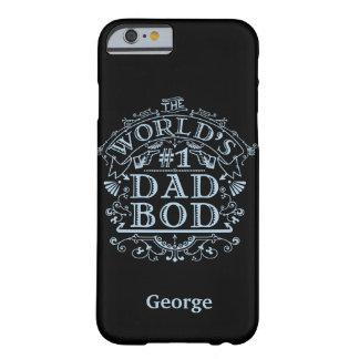パパのBodのユーモアの名前入りなおもしろいな父のヴィンテージ Barely There iPhone 6 ケース