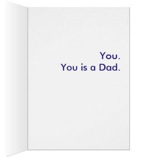 パパは何ですか。 。 お父さんです グリーティングカード