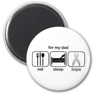 パパは睡眠の希望-肺癌--を食べます マグネット