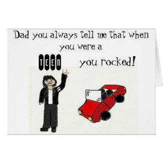 パパを揺すります カード