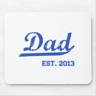 パパ米国東部標準時刻。 2013人の新しいお父さんのベビーの父の日のギフト マウスパッド