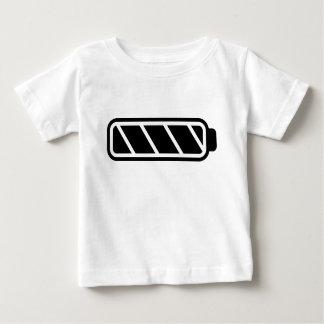 パパ電池のベビー完全な電池無し(ベビー) ベビーTシャツ