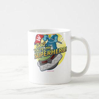 パパ、あなたは私のスーパーヒーロー コーヒーマグカップ