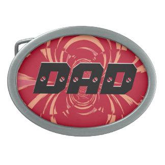 パパ-お父さん-幸せな父の日3 卵形バックル