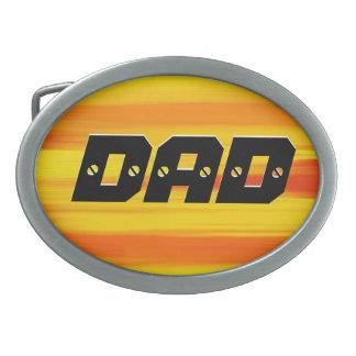 パパ-お父さん-幸せな父の日 卵形バックル