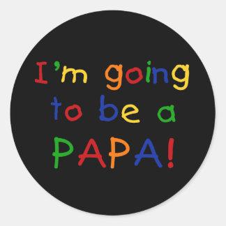 パパ-原色--があることを行くこと ラウンドシール