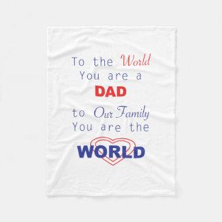 パパ、愛国心が強い父の日のために名前入り フリースブランケット