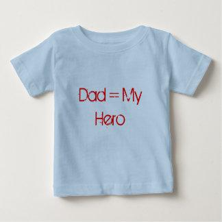 パパ=私の英雄のワイシャツ ベビーTシャツ