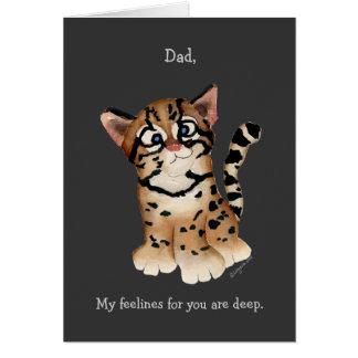 パパ、私はオセロットカード愛します カード