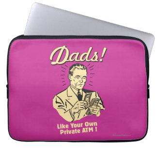 パパ: 自身の私用自動支払機のように ラップトップスリーブ