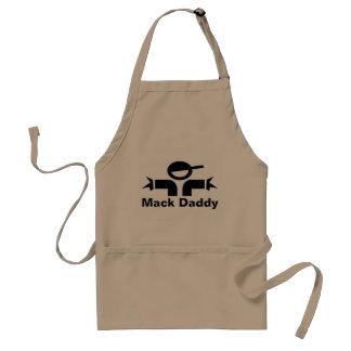 パパ| Mackのお父さんのためのおもしろいな父の日BBQのエプロン スタンダードエプロン