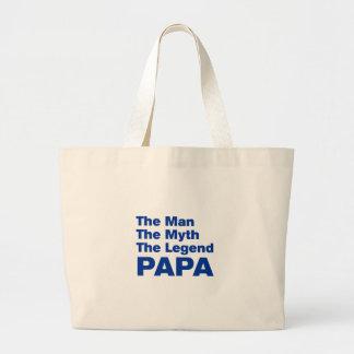 パパakz blue.png ラージトートバッグ