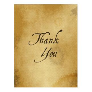 パピルスの紙は歴史的な表現GRATI感謝していしています ポストカード