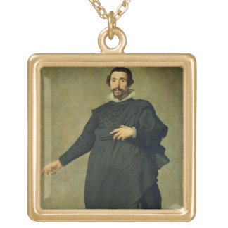 パブロdeバリャドリド、c.1635 (cの油、おどけもの ゴールドプレートネックレス