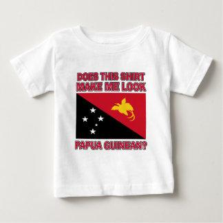 パプアのギニーの旗のデザイン ベビーTシャツ