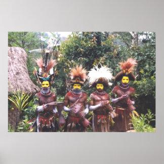パプアニューギニアのポスターの種族の人々 ポスター
