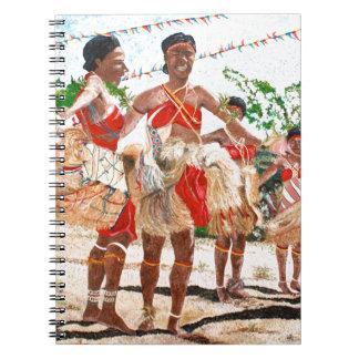 パプアニューギニアの文化的なダンス ノートブック