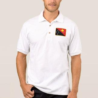 パプアニューギニアの旗のゴルフポロ ポロシャツ