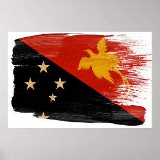 パプアニューギニアの旗ポスター ポスター