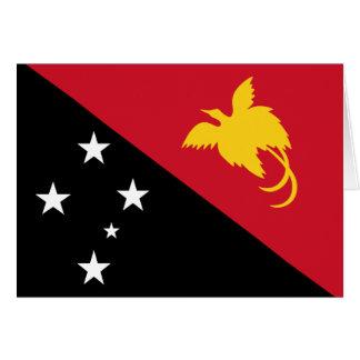 パプアニューギニアの旗 カード