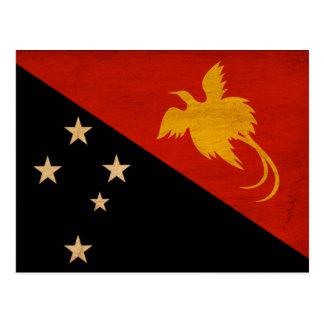 パプアニューギニアの旗 ポストカード