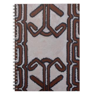パプアニューギニアの樹皮布の布 ノートブック