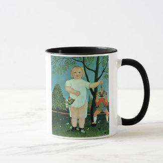 パペットを持つ子供、c.1903 (キャンバスの油) マグカップ