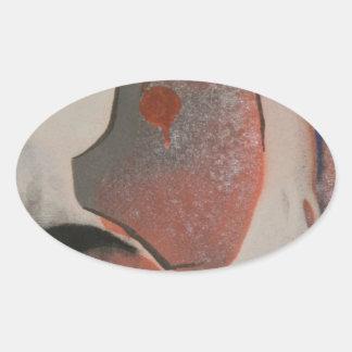 パペット 楕円形シール
