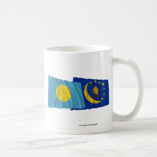 パラオ諸島およびKororの振る旗 コーヒーマグカップ