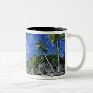 パラオ諸島の石の島、新婚旅行の島、世界 ツートーンマグカップ