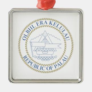 パラオ諸島-紋章/旗//記号紋章付き外衣 メタルオーナメント