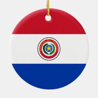 パラグアイのオーナメントの旗 セラミックオーナメント