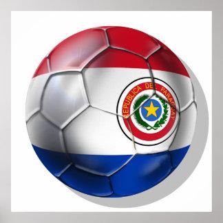 パラグアイのギフトのパラグアイの球のParaguayanの旗 ポスター