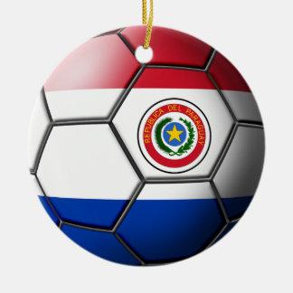 パラグアイのサッカーのオーナメント セラミックオーナメント