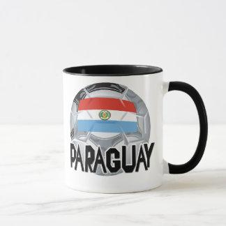 パラグアイのサッカーのスワッグ マグカップ