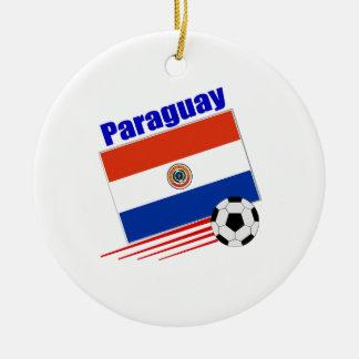 パラグアイのサッカーチーム セラミックオーナメント
