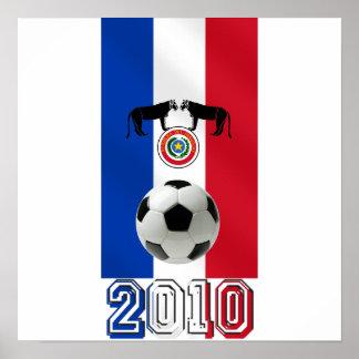 パラグアイのサッカーボールのギフトのパラグアイ2010の旗 ポスター