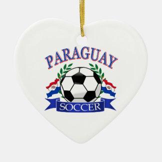 パラグアイのサッカーボールのデザイン セラミックオーナメント