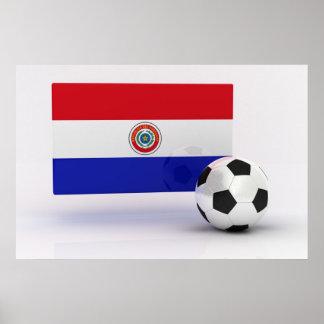 パラグアイのサッカー ポスター