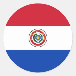 パラグアイのステッカーの旗 ラウンドシール