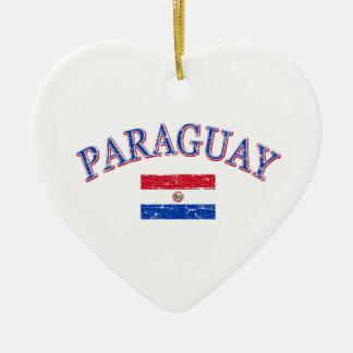 パラグアイのフットボールのデザイン セラミックオーナメント