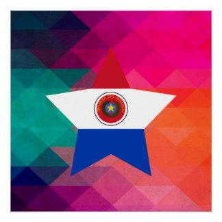 パラグアイのモダンな旗 ポスター