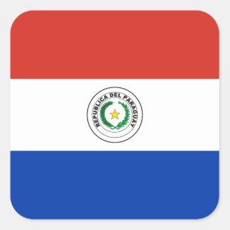 パラグアイのラベルの旗 スクエアシール