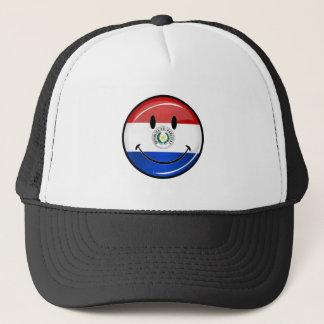 パラグアイの光沢のある円形の微笑の旗 キャップ