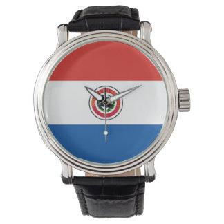 パラグアイの国旗の国家の記号 腕時計
