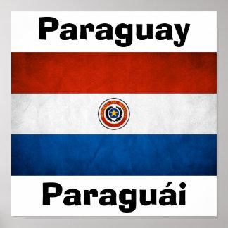 パラグアイの国旗 ポスター