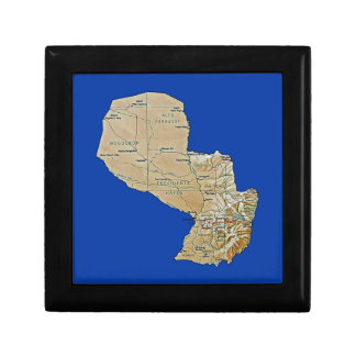 パラグアイの地図のギフト用の箱 ギフトボックス