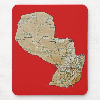 パラグアイの地図のマウスパッド マウスパッド