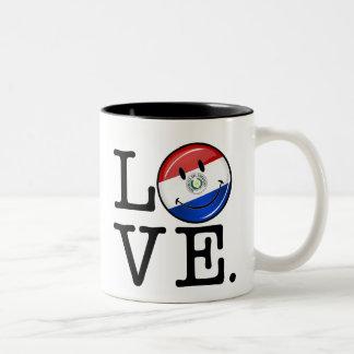 パラグアイの微笑の旗からの愛 ツートーンマグカップ